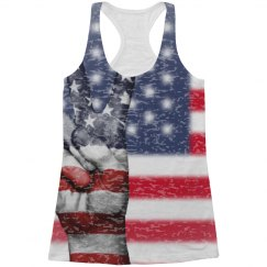 All Over Print Peace Is Patriotic