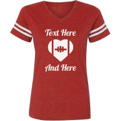 College/High School Football Tee