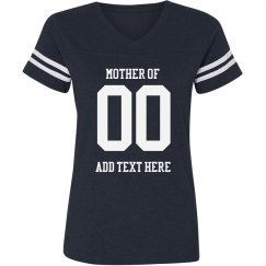 Football Mom Custom Team Number
