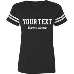 Custom Text Football Mother