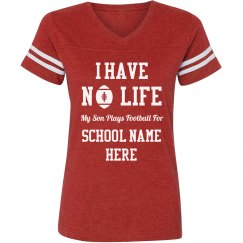 Custom Text No Life Football Mom