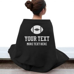 Custom Text Football Blanket