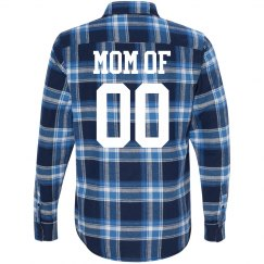 Trendy Custom Football Mom Plaid