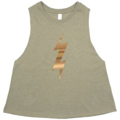 Bolt Crop Muscle T
