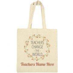 Custom Floral Teacher Gift