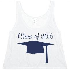 Navy Cap & Gown Graduate ClassOf
