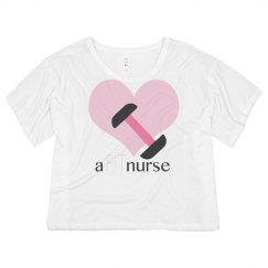 Fit nurse: logo flowy T