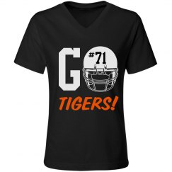 Byron Football v-neck tee