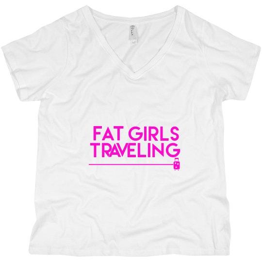 FGT Pink Luggage V Neck