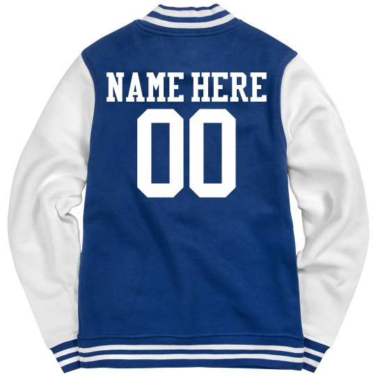 Field Hockey Girl Custom Varsity Jacket Name Number