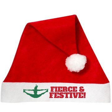 Fierce and Festive Cheer Santa Hat for the Cheer Squad