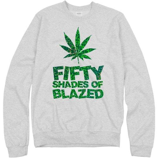 Fifty Green glitter logo