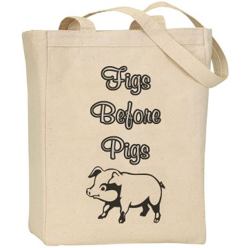 Figs Before Pigs tote