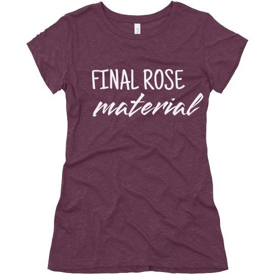 Final Rose Material Bachelor Fan