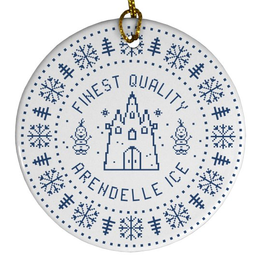 Finest Quality Arendelle Ice Cute Christmas Ornament
