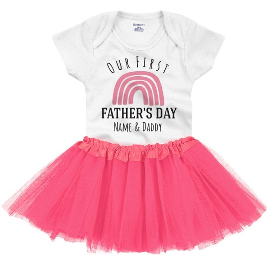 First Father's Day Rainbow Onesie