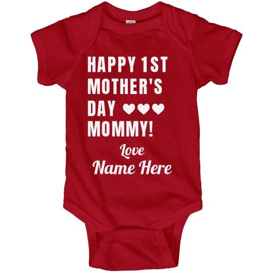 First Mother's Day Custom Bodysuit