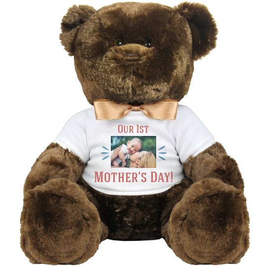 First Mother's Day Custom Photo Bear