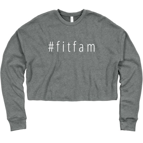 #FitFam Fitness Cropped Sweater