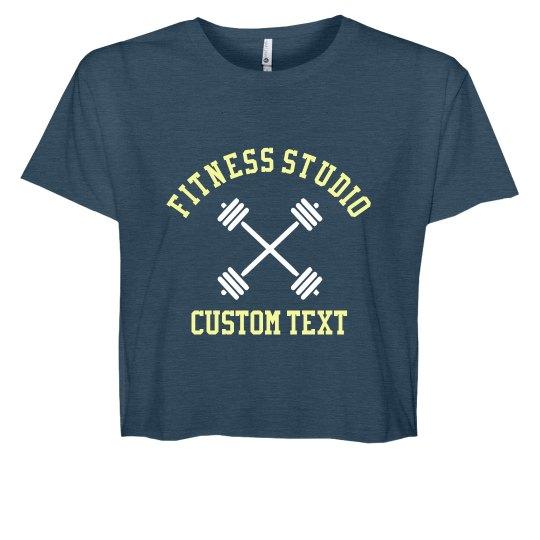 Fitness Studio Custom Crop Tee