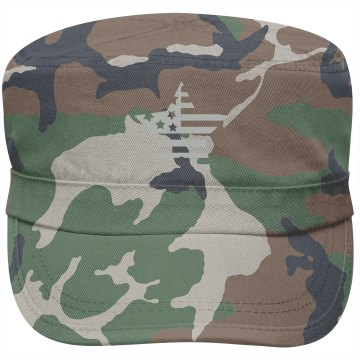 Flag Star Military Style Hat