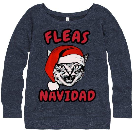 Fleas Navidad Xmas Cat