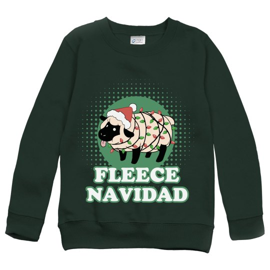 Fleece Navidad Funny Kids Xmas