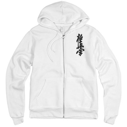Fleece Zip Up with Kanji and Logo