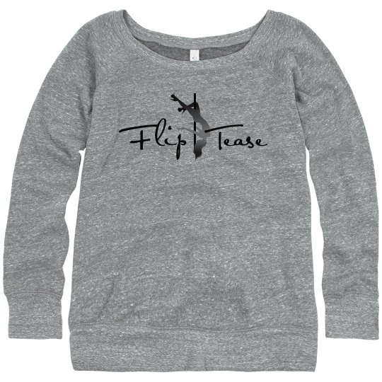 Flip Tease Logo Wide-Neck Sweatshirt
