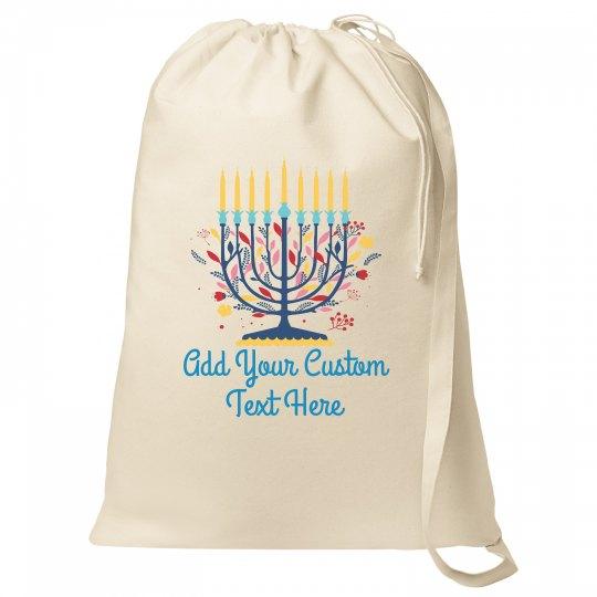 Floral Candelabra Custom Text Bag
