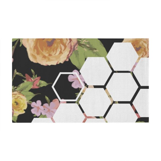Floral Pattern With Geometric Shapes