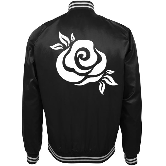 Floral Rose Trendy Bomber Jacket