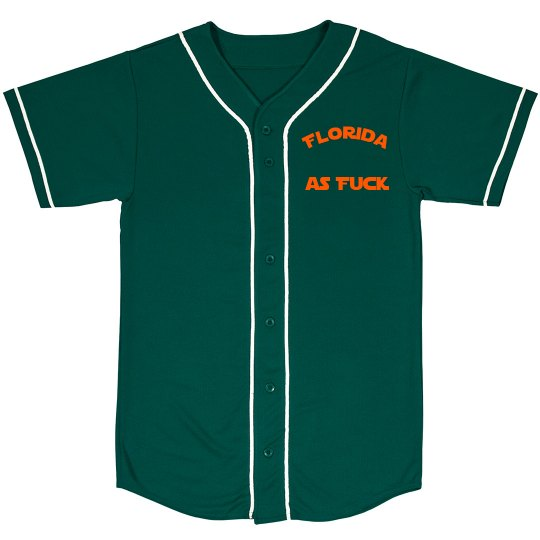 Florida as Fuck Baseball shirt