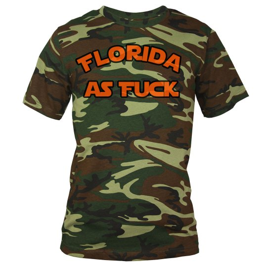 Florida as Fuck camo shirt