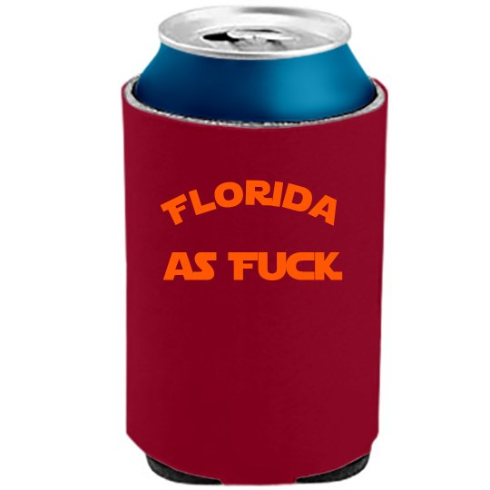 Florida as Fuck koozie