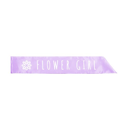 Flower Girl Petal Sash