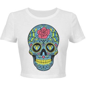 Flower Skull Crop