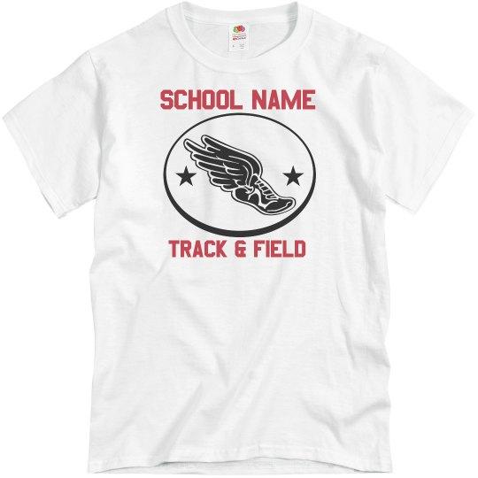 Flying Shoe Track & Field Tee