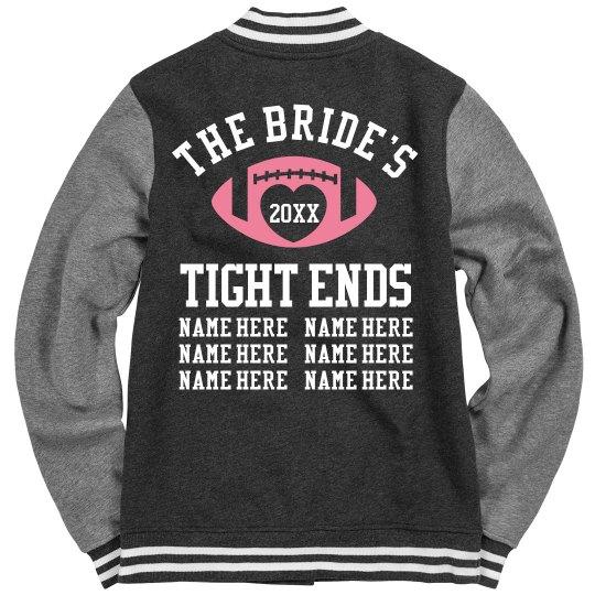 Football Bachelorette Bridesmaids Keepsake Coat