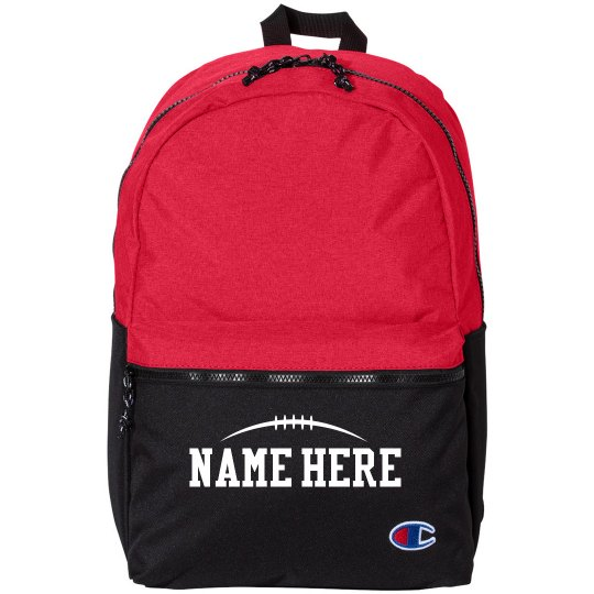 Football Custom Name Backpack