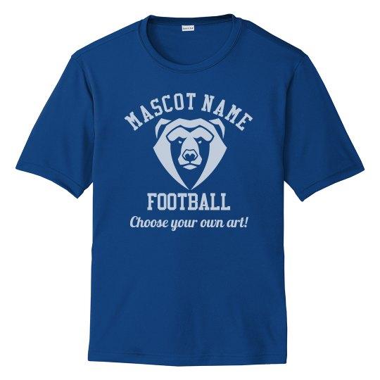Football Dad Custom Mascot & Number