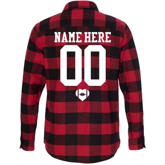 Football Girlfriend Fall Fashion Flannel Shirts