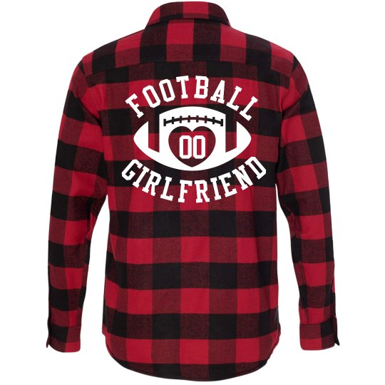 Football Girlfriend Fashion Flannel With Custom Number