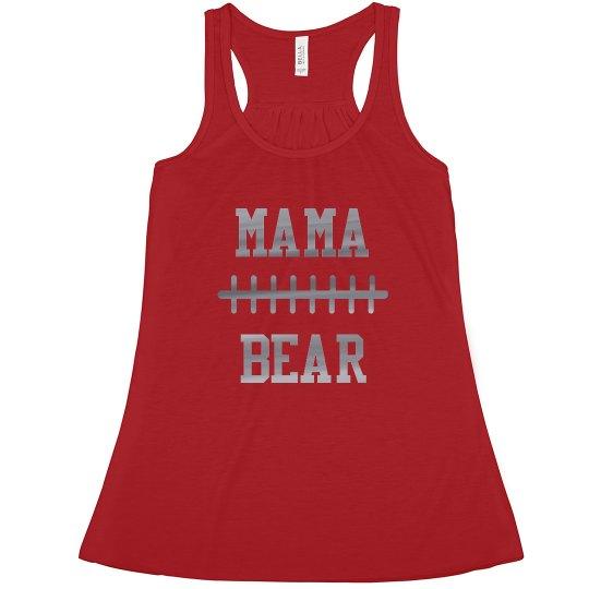 Football Mama Bear Custom Number