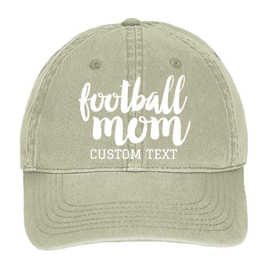 Football Mom Custom Baseball Cap