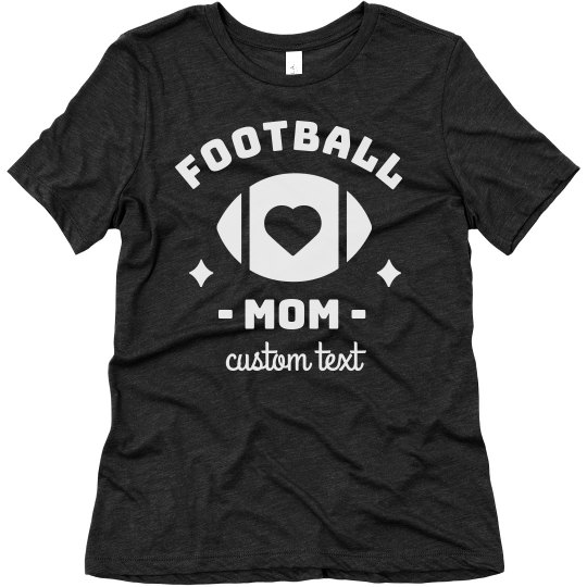 Football Mom Custom Comfy Triblend Tee