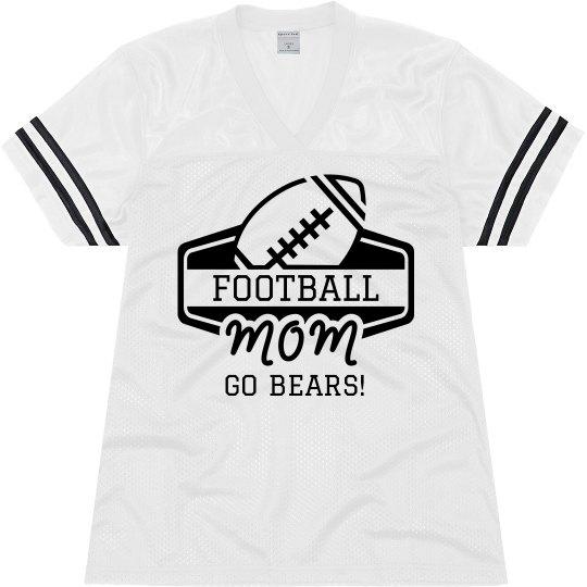 Football Mom Custom Cute Sports Jersey
