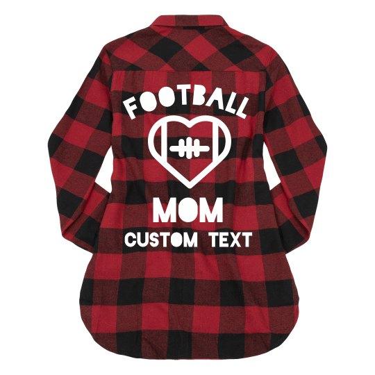 Football Mom Custom Flannel Sports