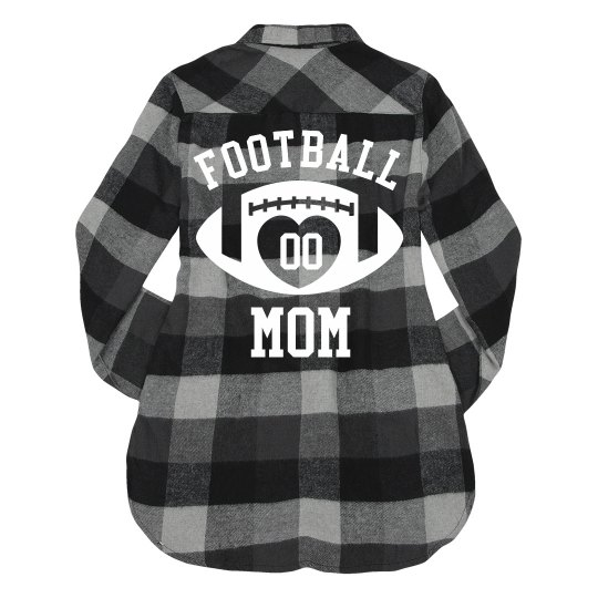 Football Mom Custom Number Sports