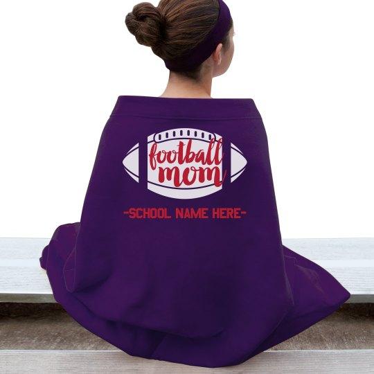 Football Mom Custom School Blanket